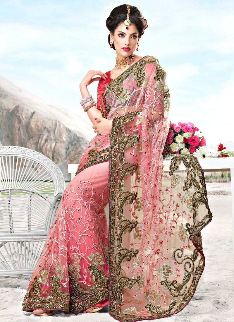 Resham Enhanced Net Saree