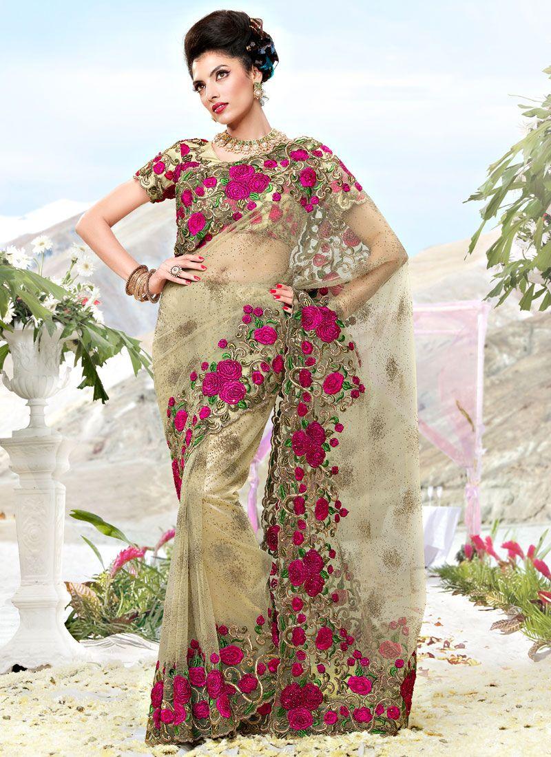 93927a1a1b4d0 Beige Saree Blouse Designs