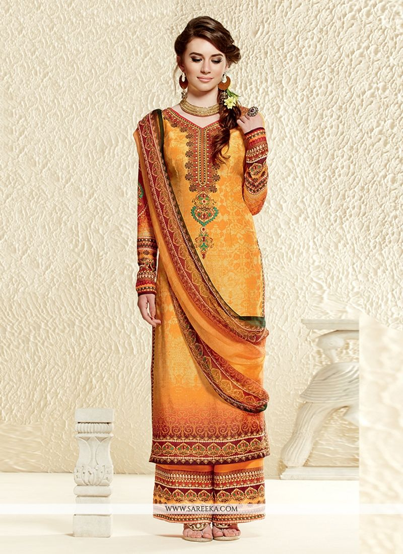 Glorious Mustard Cotton Silk Pakistani Suit
