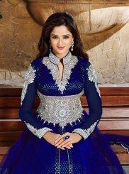 Lovable Blue Net Anarkali Salwar Kameez
