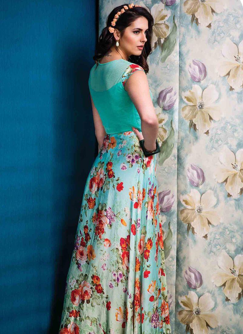 Raw Silk Designer Gown -