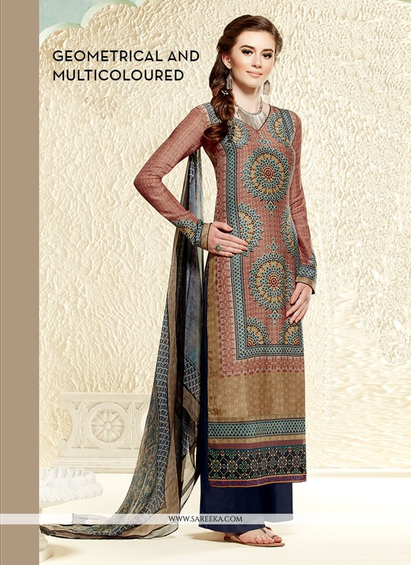 Stupendous Multicolor Cotton Silk Pakistani Suit