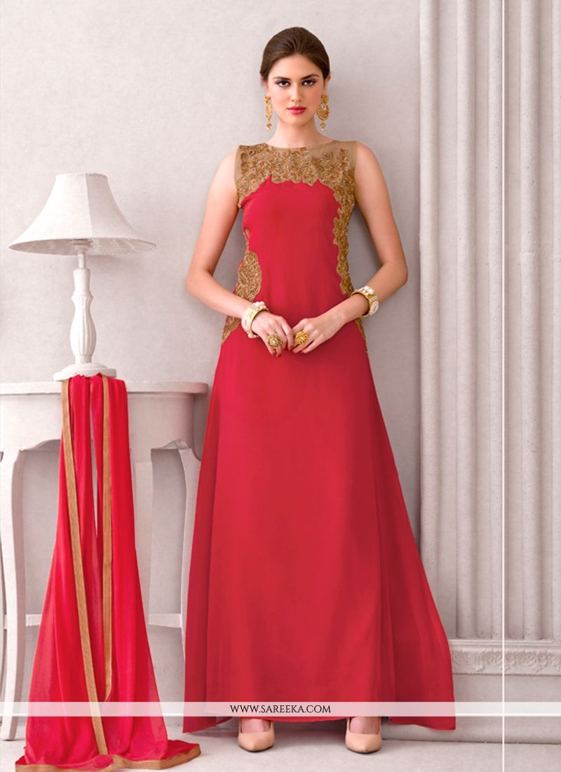 Superlative Red Designer Suit