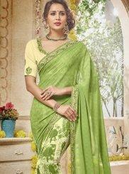 Green Digital Print Ceremonial Trendy Saree