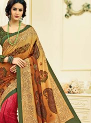 Print Tussar Silk Multi Colour Printed Saree