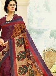 Tussar Silk Print Multi Colour Printed Saree